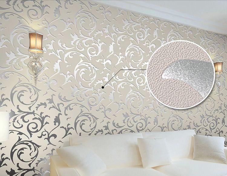 New Luxury Silver Grey Golden Reflective Wallpapers Living Room Flooring Wallpaper For Walls D