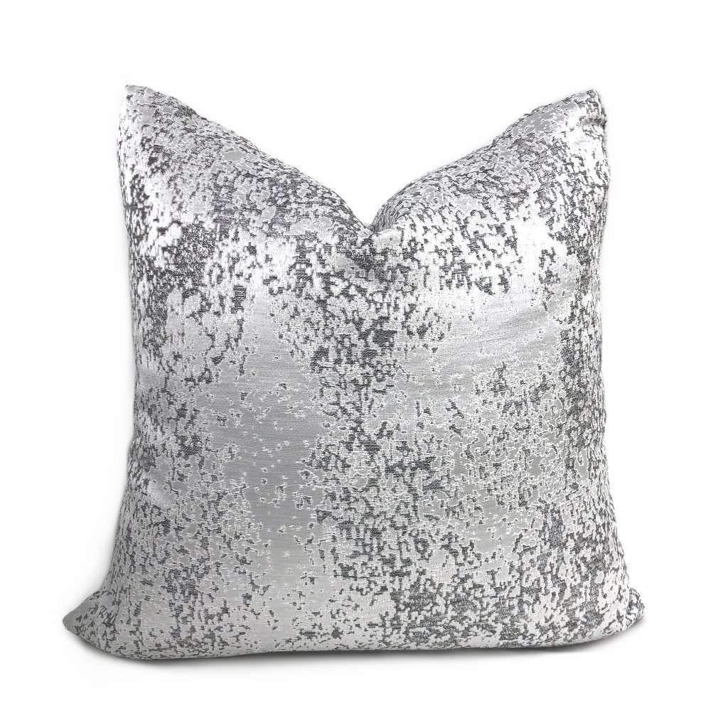 Volta Silver Gray Metallic Quartz Texture Pillow Cover In 2020 Pillow Texture Silver Pillows Pillows