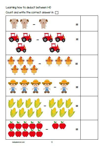 Farm Printable Pack Free Activity Sheet For Pre K K1 K2 Read More Malaysianmom Com Free Kindergarten Printables Farm Lessons Farm Animals Activities