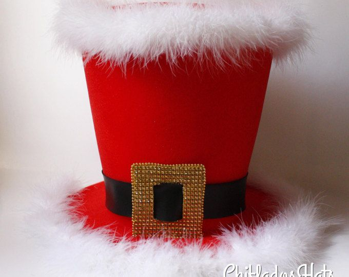 Santa Claus Top Hat, Christmas Hat, Candy Cane, Christmas