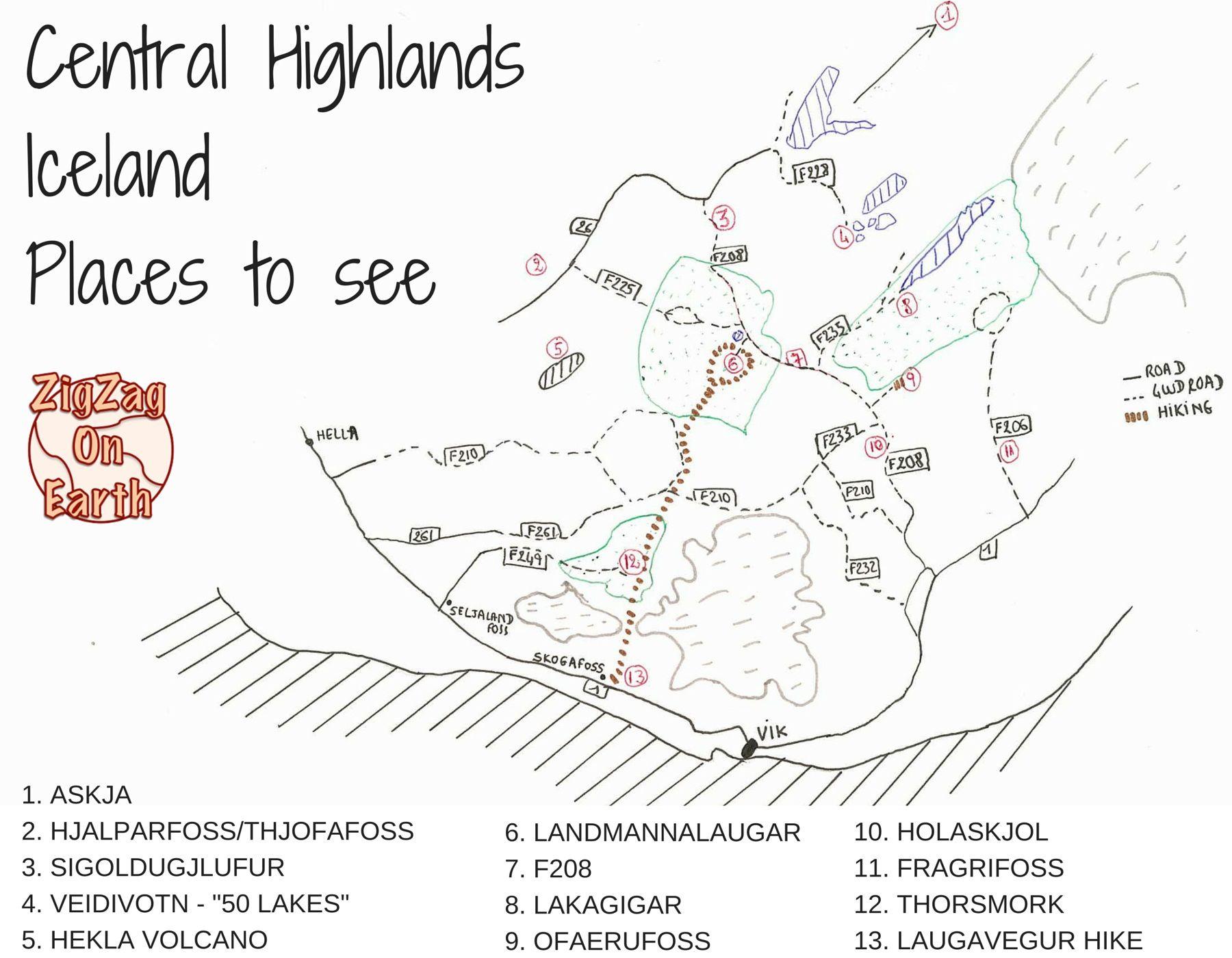 Guide Central Highlands Iceland