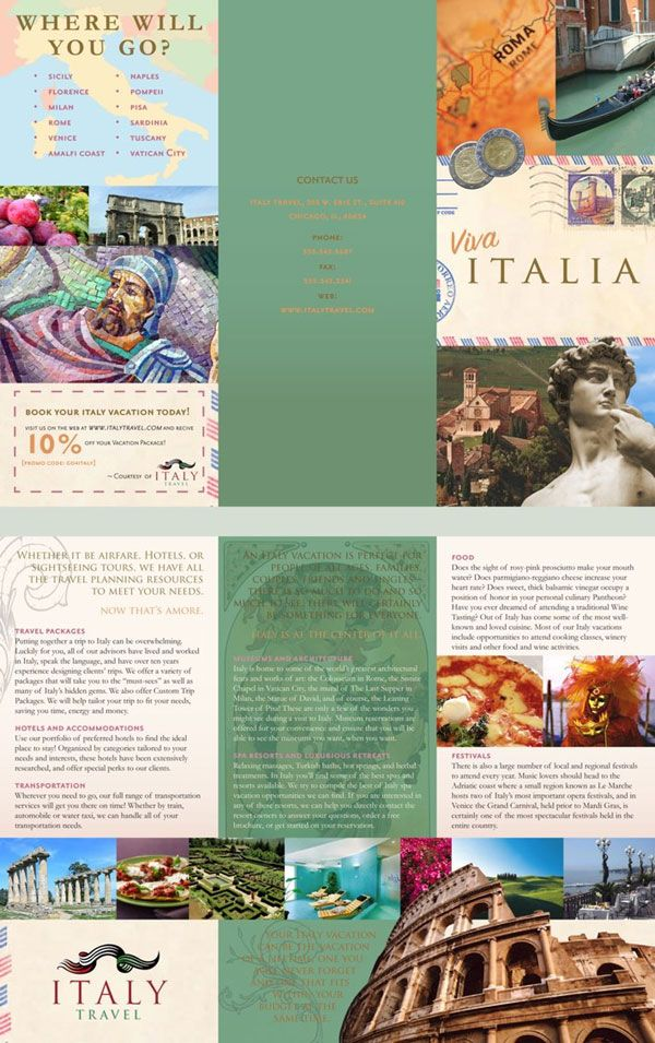 Graphic Art Travel Brochure  Design    Travel