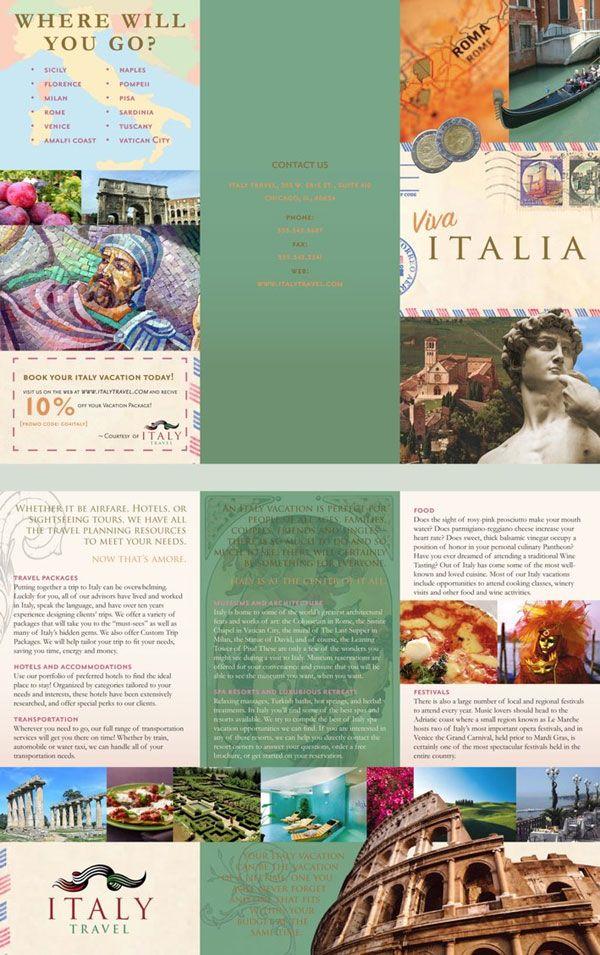 Graphic Art Travel Brochure Design Pinterest Travel Brochure