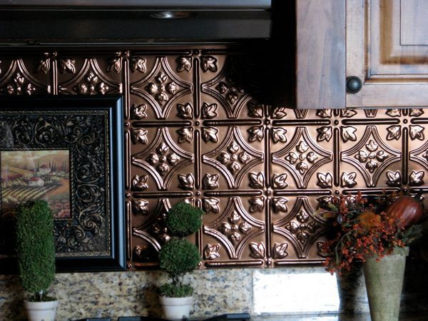 Cool Kitchen Backsplashes ~ We have this one. Bought at Lowe\'s. It\'s ...