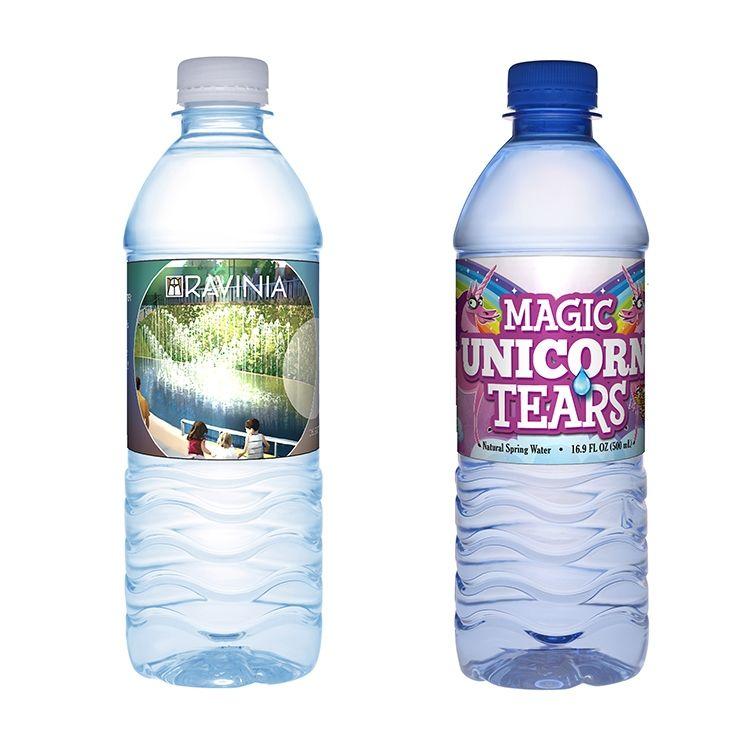 16 9 Oz Custom Label Water Bottle Custom Water Bottle Labels Water Bottle Branded Water Bottle