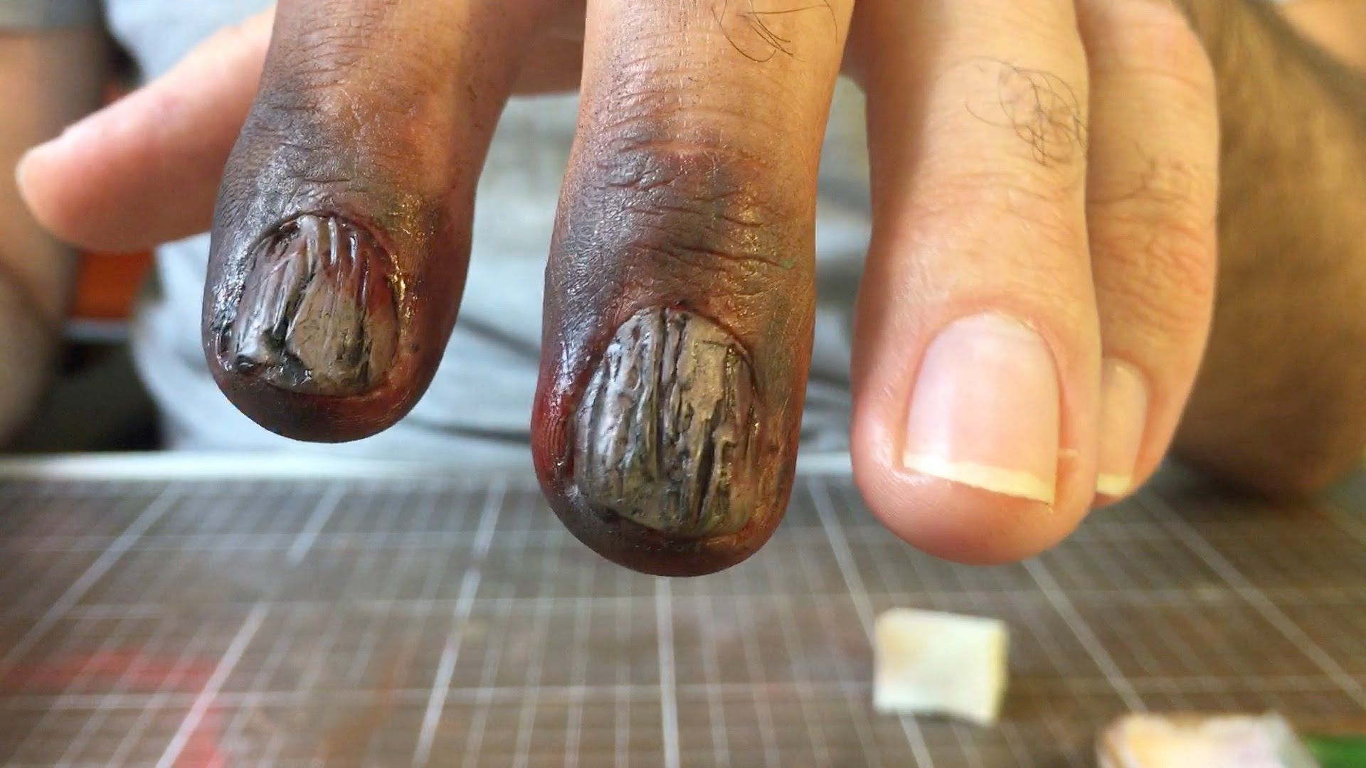 Zombie fingernails SFX makeup tutorial Dental Wax Link