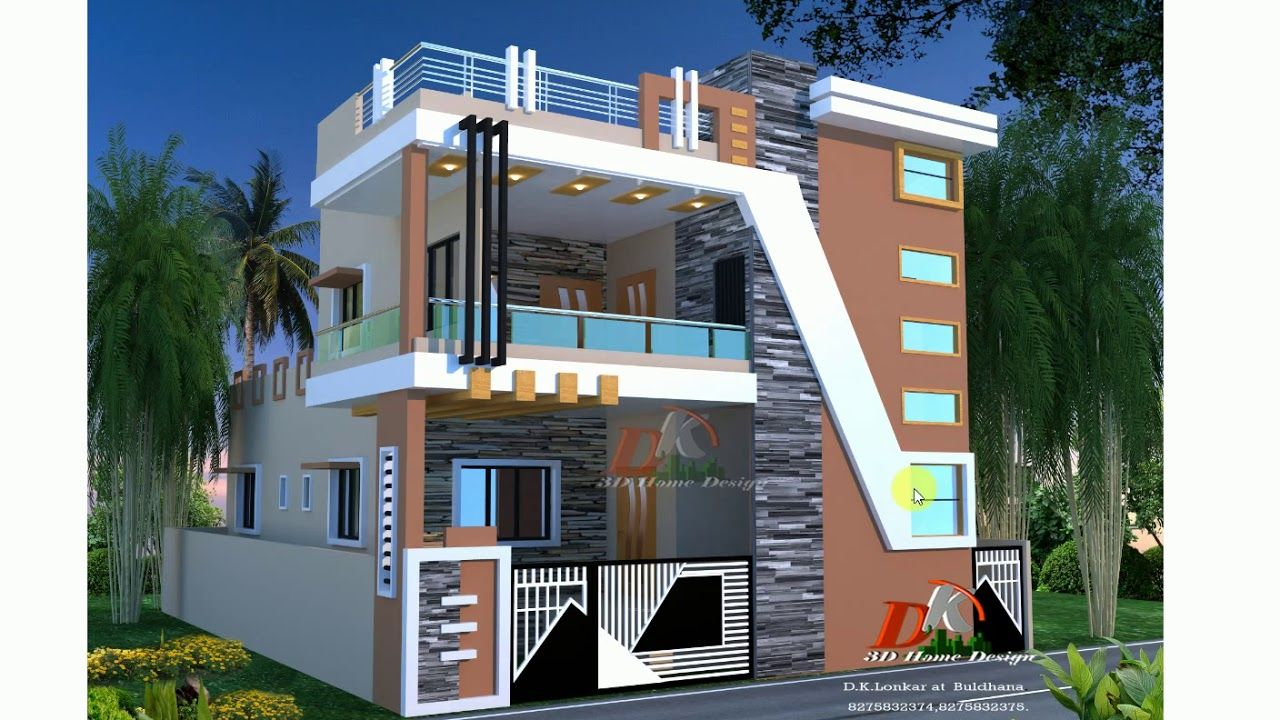 Best House Plan With Front Design And Color Options Duplex House