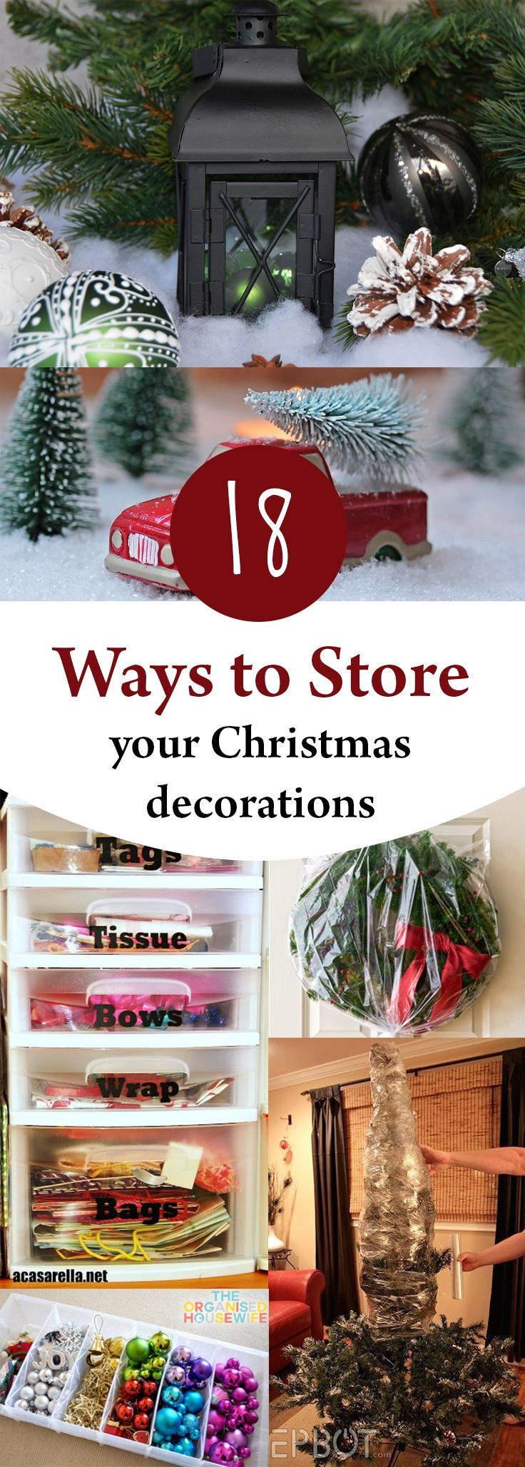 18 Ways To Store Your Christmas Decorations Christmas Storage Storing Christmas Decorations Holiday Storage
