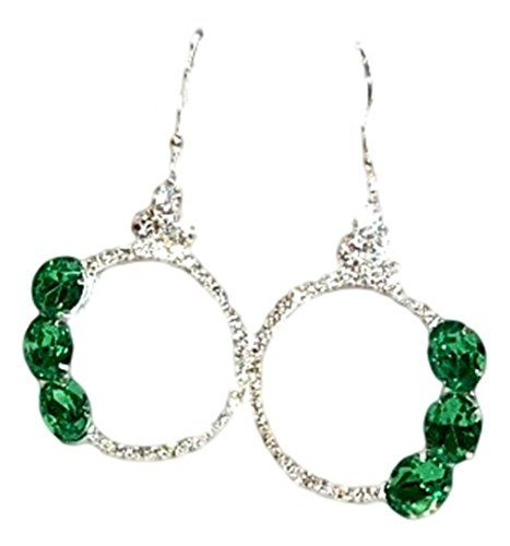 Crystal Dangle Earrings BS Clear Green Crystal Silver Tone Fish Hooks Recyclebabe http://www.amazon.com/dp/B00TXIE1KU/ref=cm_sw_r_pi_dp_d326ub10DRRD3