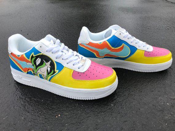 5db67de870e8 Drippy Buttercup Powerpuff Girls Custom Nike Air Force 1 Shoes ...
