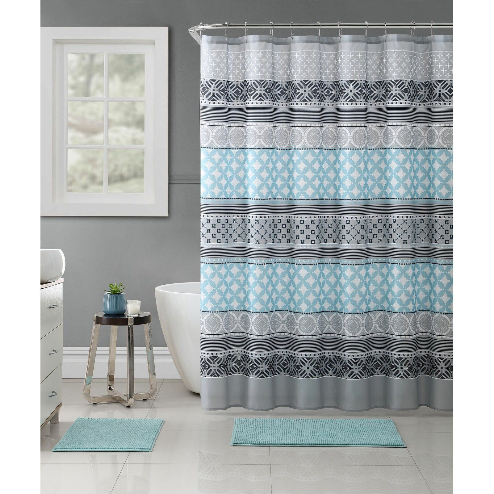 Bungalow Rose Stiner Medallion Single Shower Curtain Wayfair