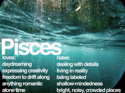 I don't put much stock in astrology, but damn it if the Pisces description doesn't fit me to a T.