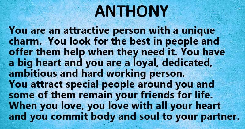 what is the meaning of my name anthony