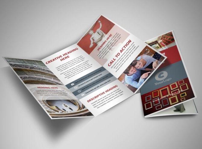 european art museum tri fold brochure template museum brochures