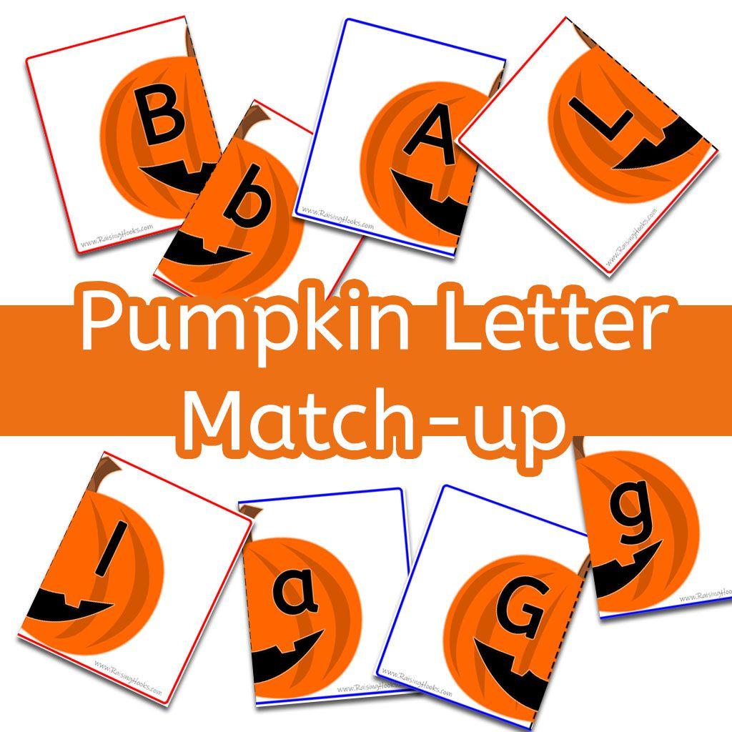 Pumpkin Letter Match Up