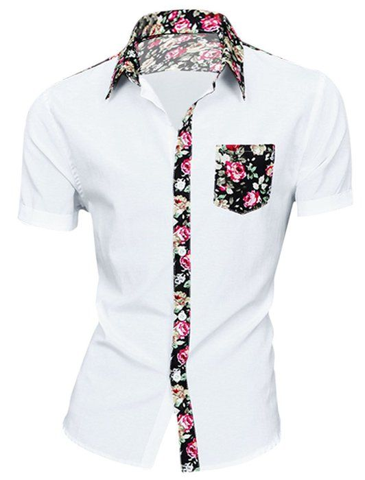 uxcell Men Long Sleeve Buttoned Denim Shirt