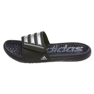 popular brand official images new authentic Adidas Retrossage Mens M19796 Black Silver Slide Massage ...