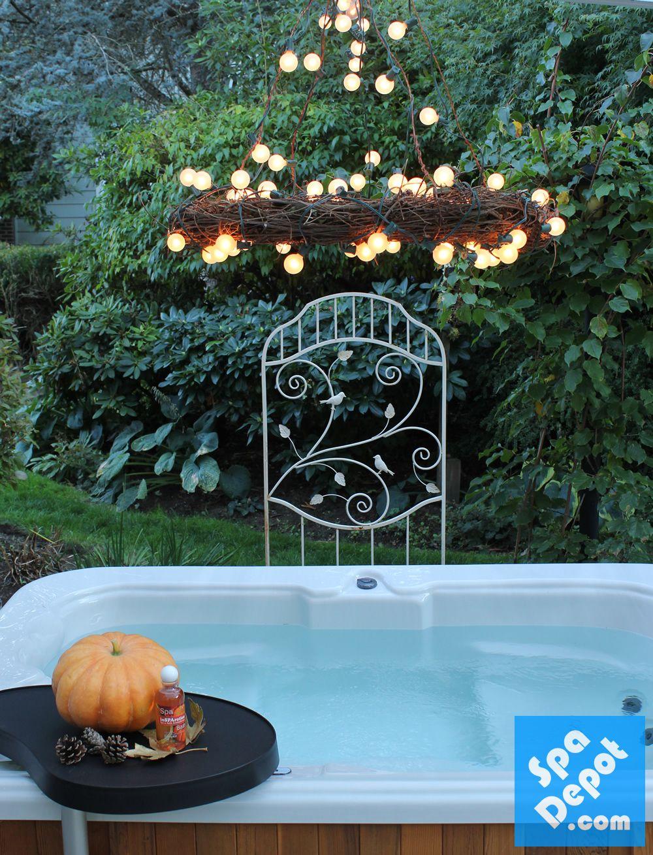 Diy outdoor chandelier hot tub patio decorating ideas for mood diy outdoor chandelier hot tub patio decorating ideas for mood lighting arubaitofo Images