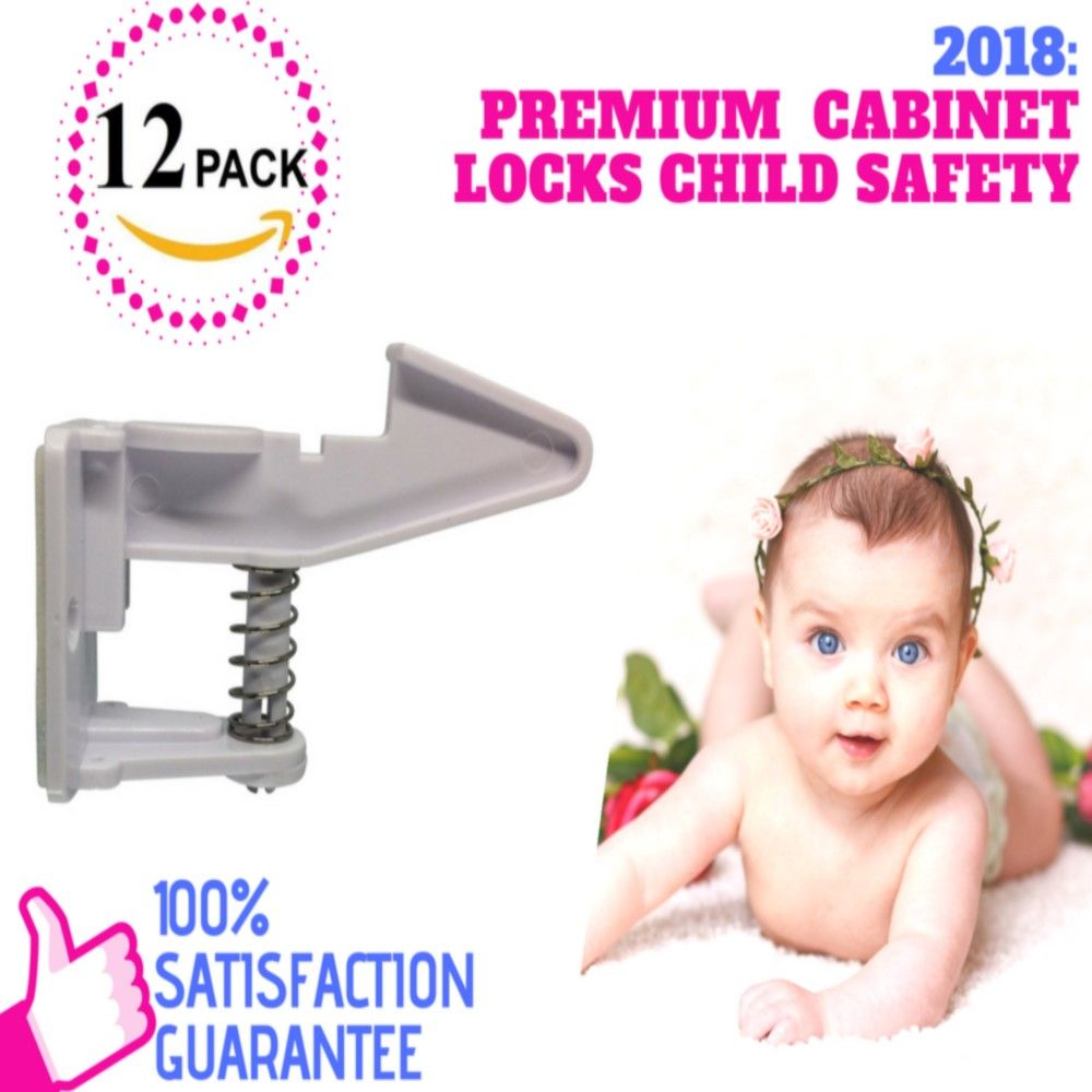 Best Child Proof Cabinet Locks Offer Premium Set Of 12pack Universal Fit By Trubabe Baby Safety Child Safety Childproofing Baby Proofing Baby Proof Cabinets
