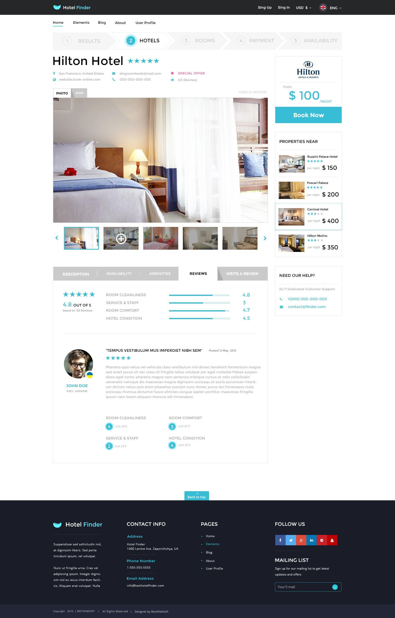 Hotel Finder Online Booking Html Website Template