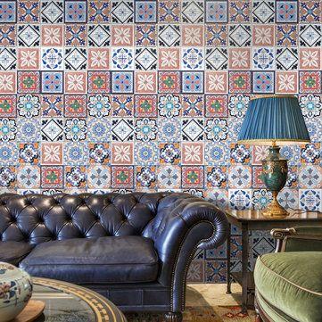 Decorative Ceramic Tiles Kitchen Endearing 25Pcs Self Adhesive Bohemia Simulation Ceramic Tiles Diy Kitchen Review