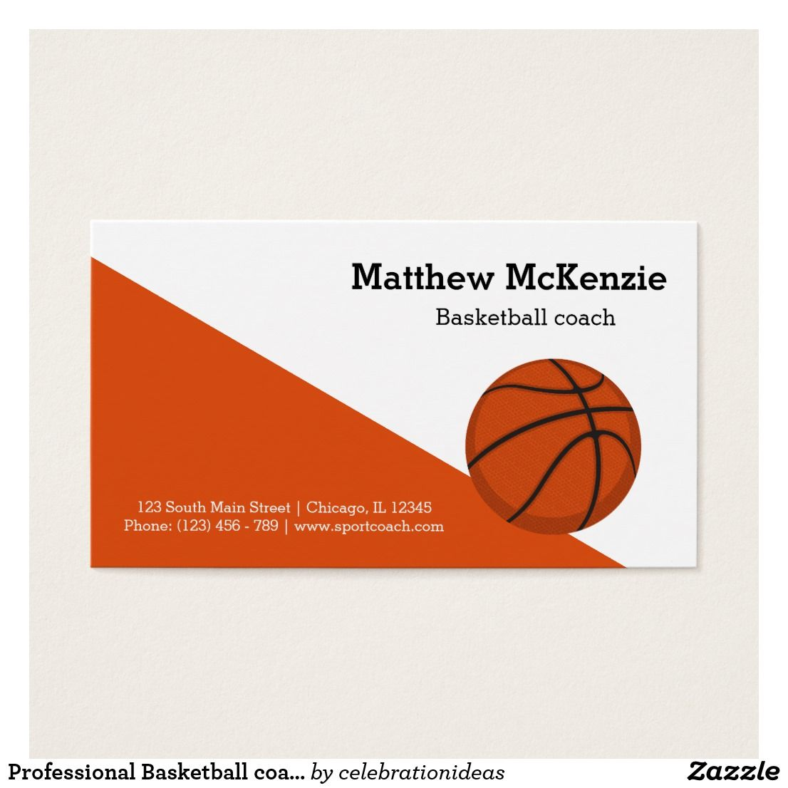 Professional Basketball Coach Player Business Card Business Cards