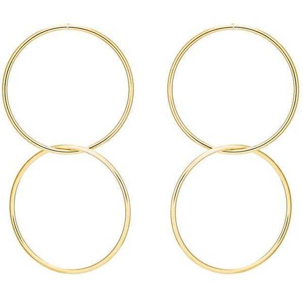 Kenneth Jay Lane Womens Double-Drop Entwined-Hoop Earrings 8JCxnUNg60