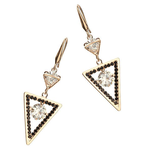 Geometric Shape Zircon Ear Drop Unique Long Earrings #Unbranded #DropDangle