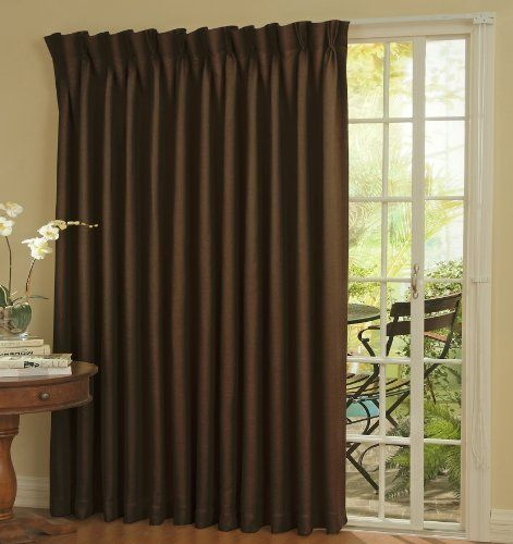 Eclipse Thermal Blackout Patio Door Curtain Panel 100 X 84 Chocolate By Eclipse Http Www Amaz Patio Door Curtains Sliding Glass Door Curtains Patio Doors