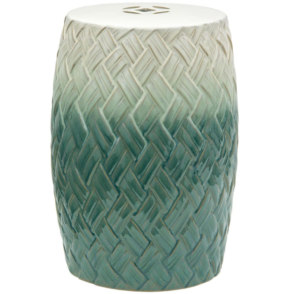Carved Woven Design Porcelain Garden Stool (China) | Overstock.com Shopping - Great Deals on Garden Accents