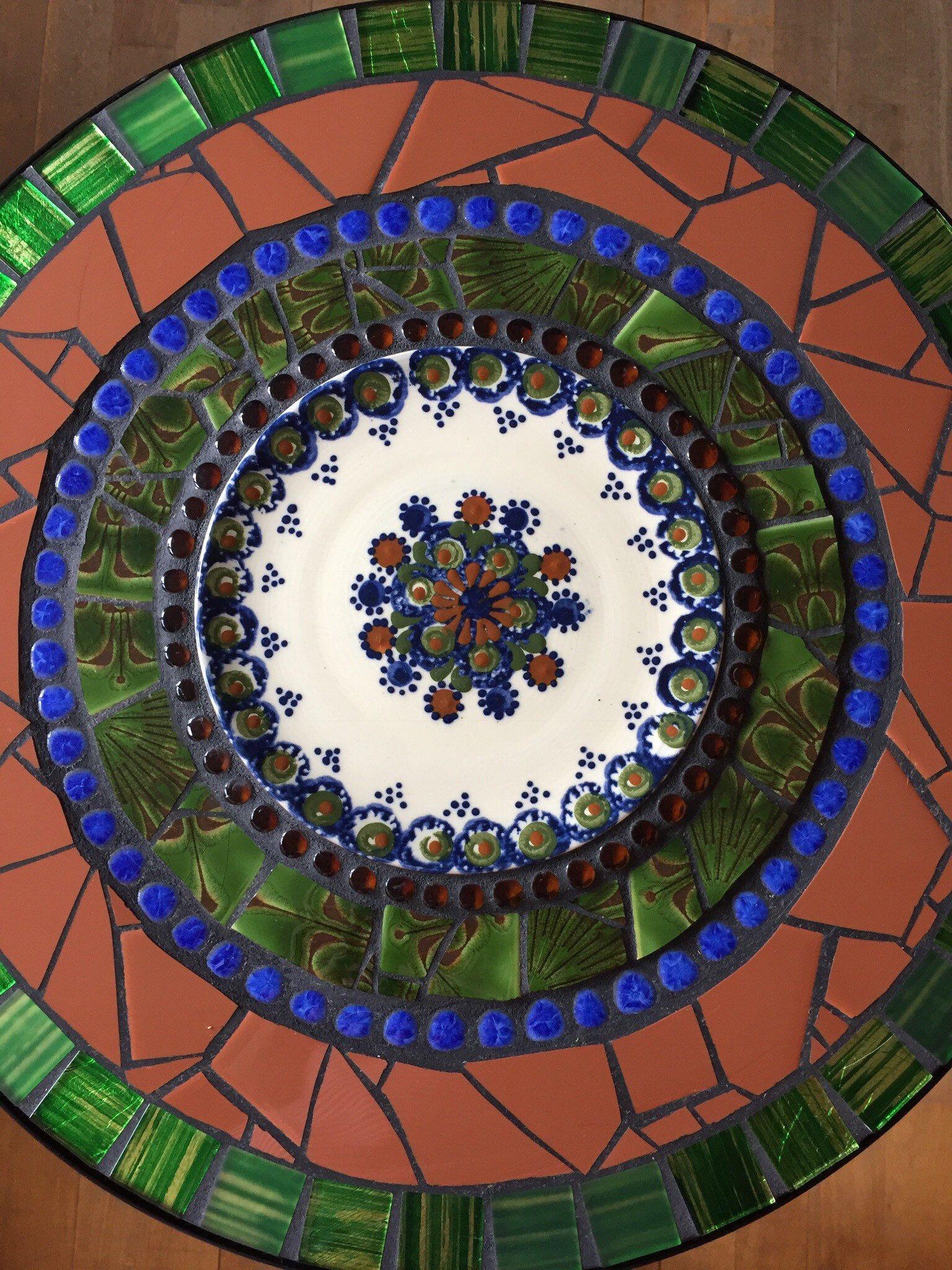 Mosaik Tisch Garten Beistelltisch Bistrotisch Tisch Kunst