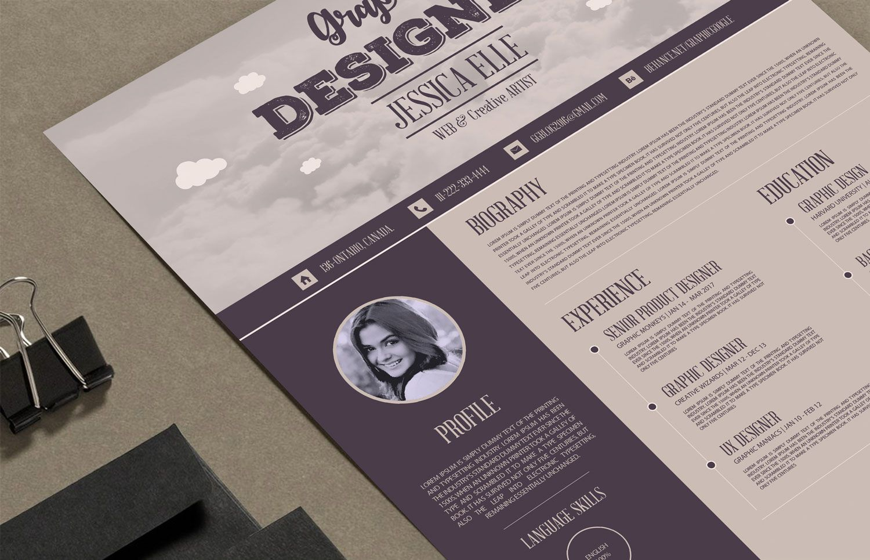 11 free resume templates — Creative Blog Resume template