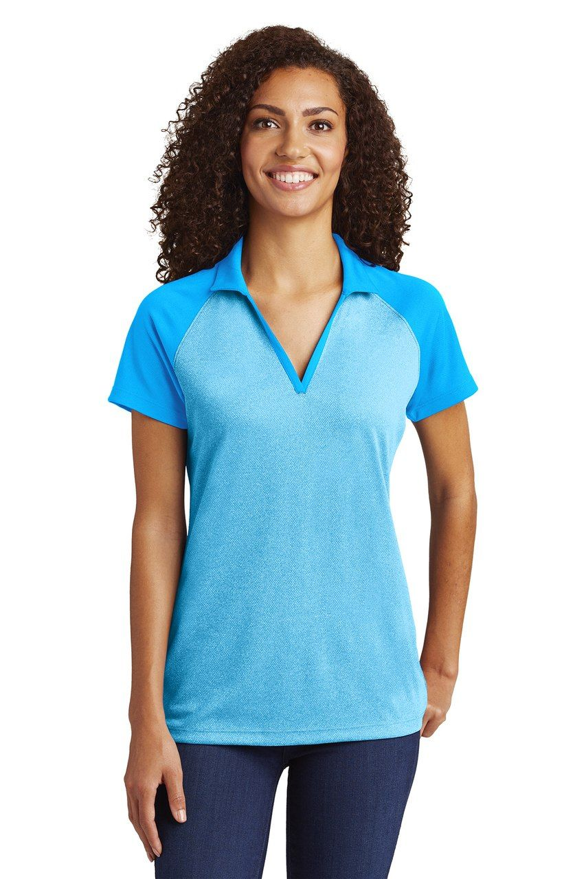 d0258597 Ladies' Polo, V-Neck, Contoured Silhouette #WomensWorkShirtWithLogo  #WomensWorkShirtsAndBlouses #WomensWorkShirtsUniform #WomensWorkShirt