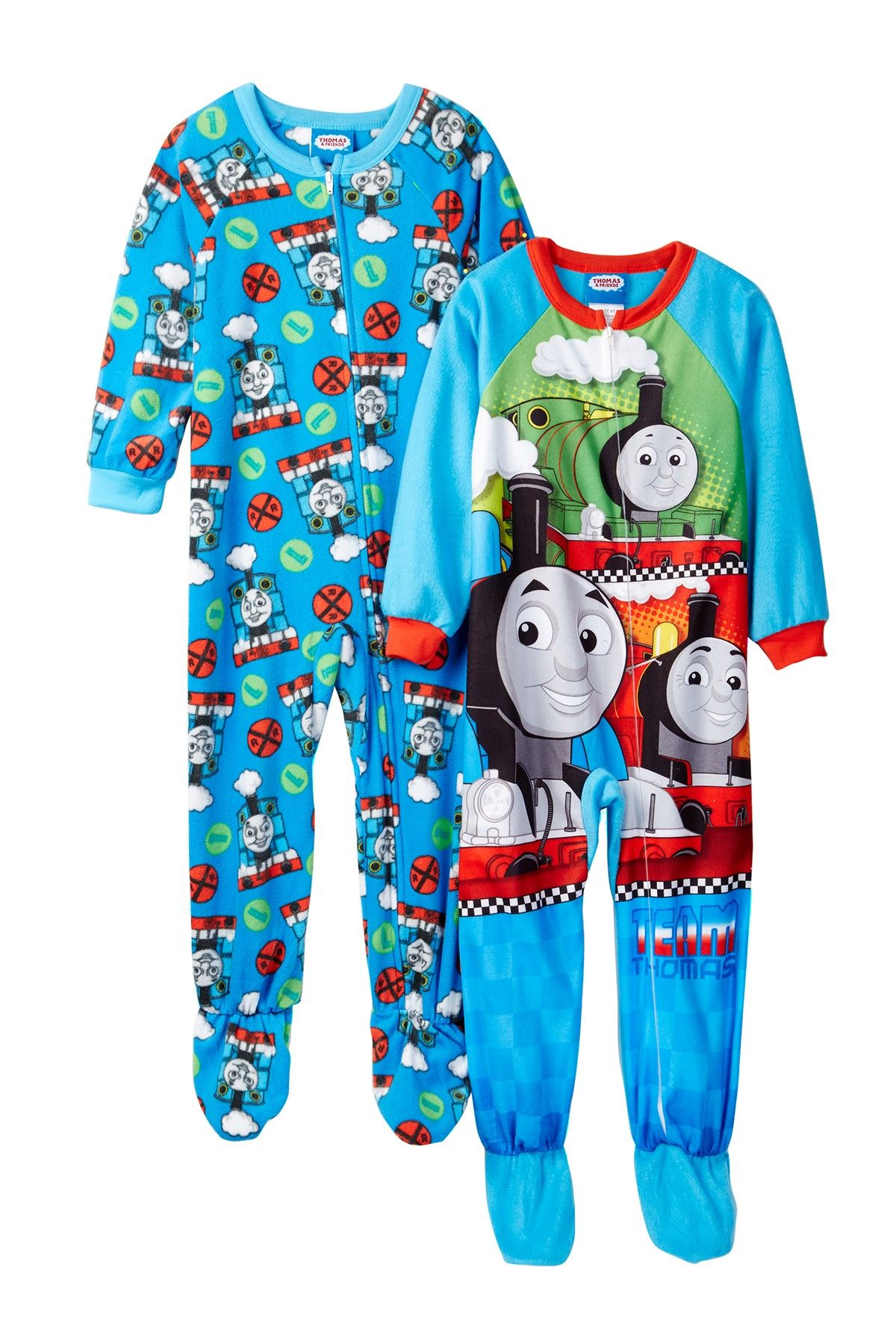 683eb5958 Thomas   Friends Fleece Footed Blanket Sleepers - Set of 2 (Toddler ...