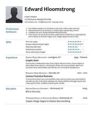 General Resume Layout Resume Template For College Students Creative