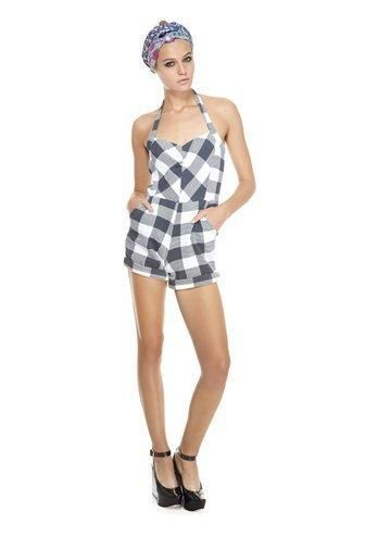 Marc Jacobs Harry Checked Thermal Jumpsuit Adult Women Jumpsuits - washed black multi