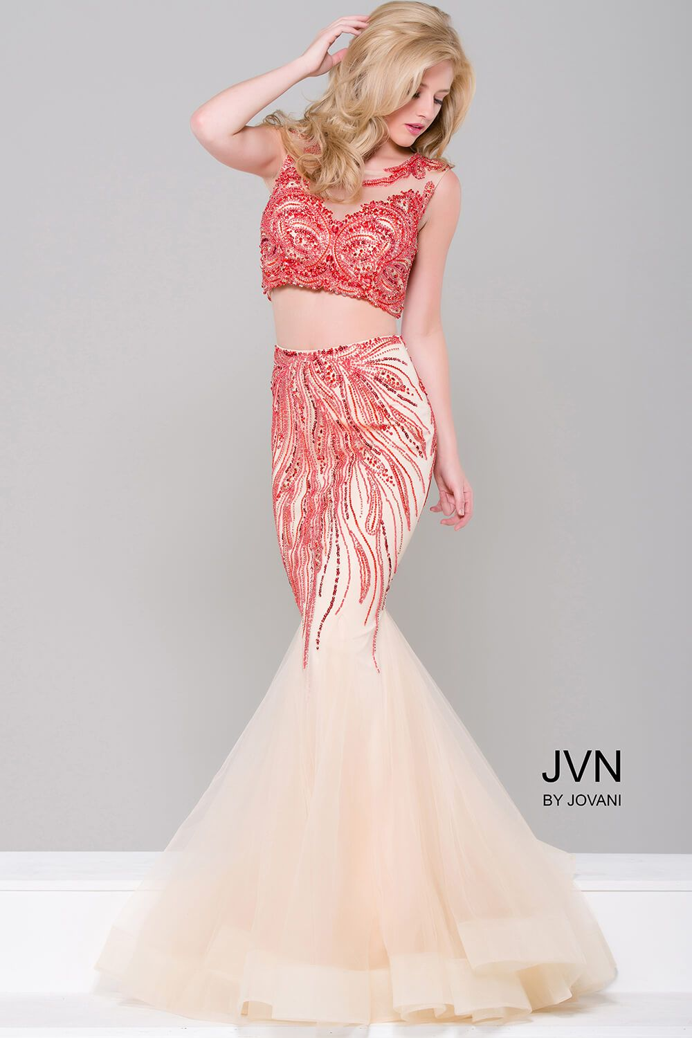 Let this two-piece make a statement at your next event! #JVN 36772 ...