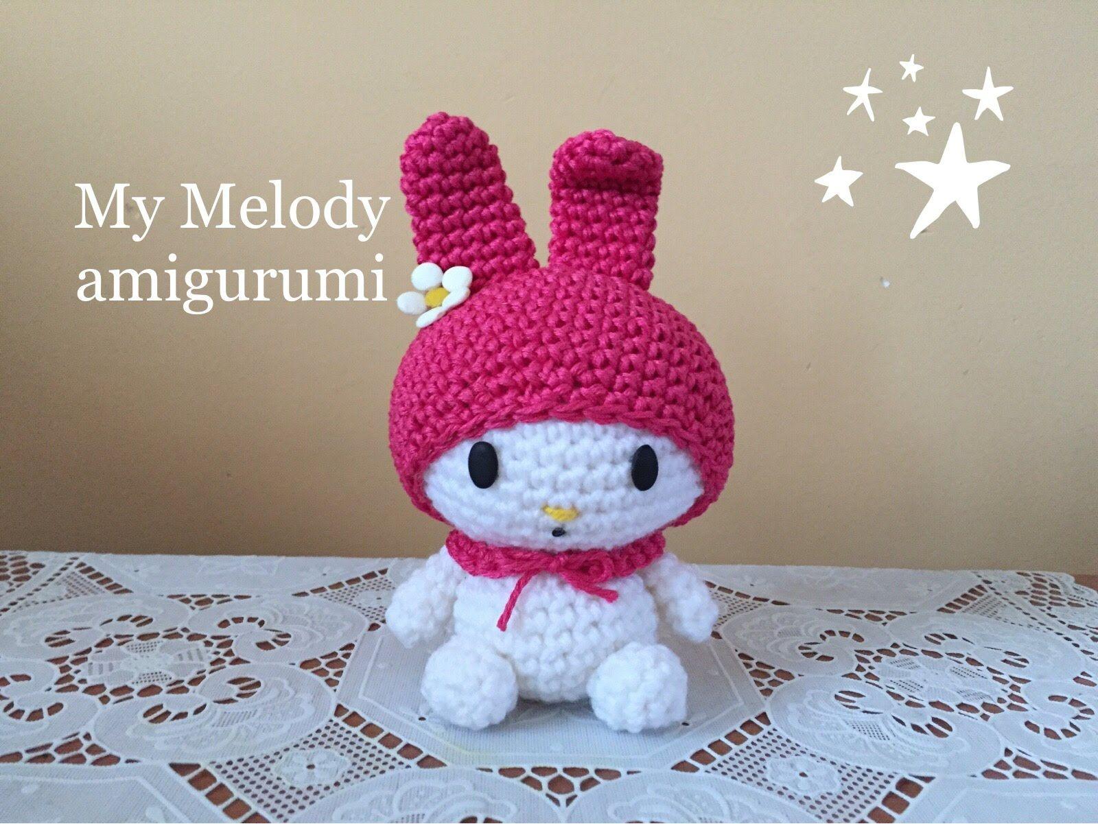 my melody Amigurumi (tutorial)/How to crochet my melody - YouTube ...