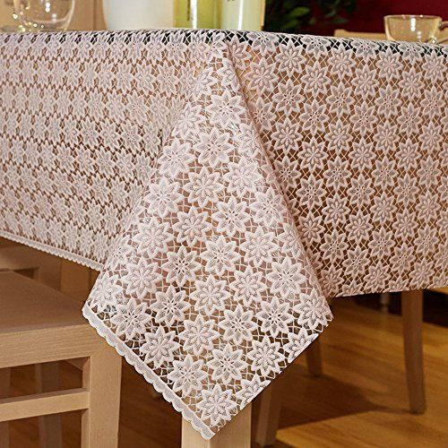 Plastic Table Cloth The Style Of Disposable Pvc Mat Waterproof And Oil Rectangular Garden Lace B 100x137cm 39x54inch