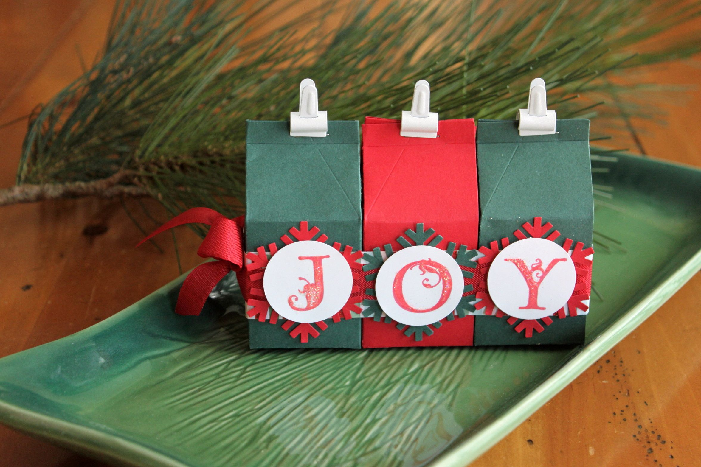 Fill with money and stamp name? Or just completely copy this cute idea!