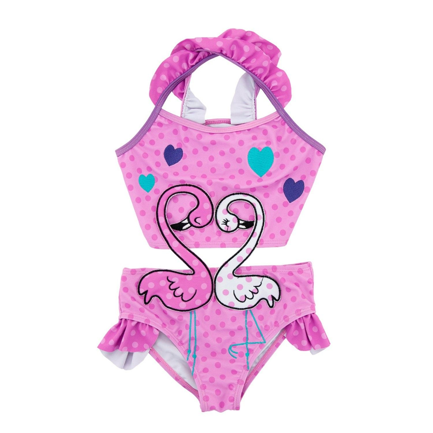 96dad85807c3a Girls Swan One-Piece Swimsuit Retro Floral Bathing suit w/Cross-Back(Toddler /Little Kid) - Pink - C9180IW0MSY - Girls' Clothing, Swim, One-Pieces  #OnePieces ...