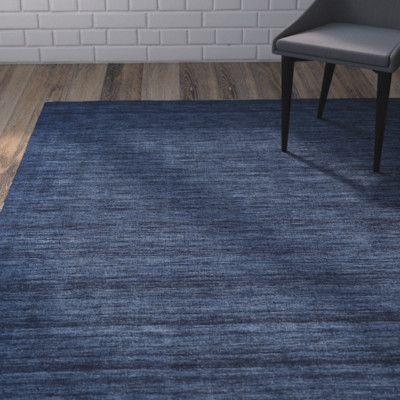 """Brayden Studio Larissa Dark Blue Rug Rug Size: 3'6"""" x 5'6"""""""