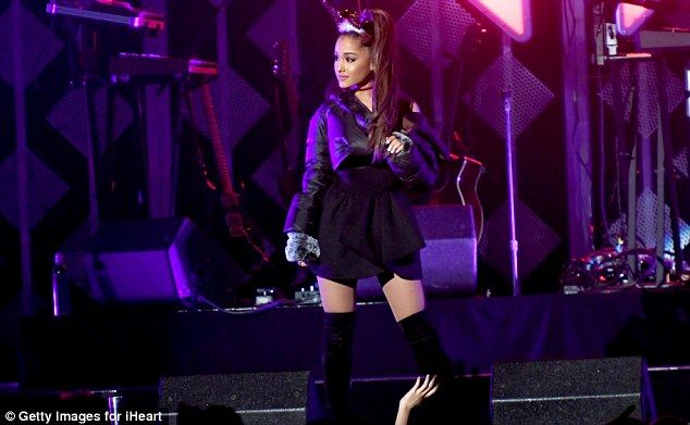 Ariana Grande Dons Thigh High Boots For Jingle Ball In Atlanta