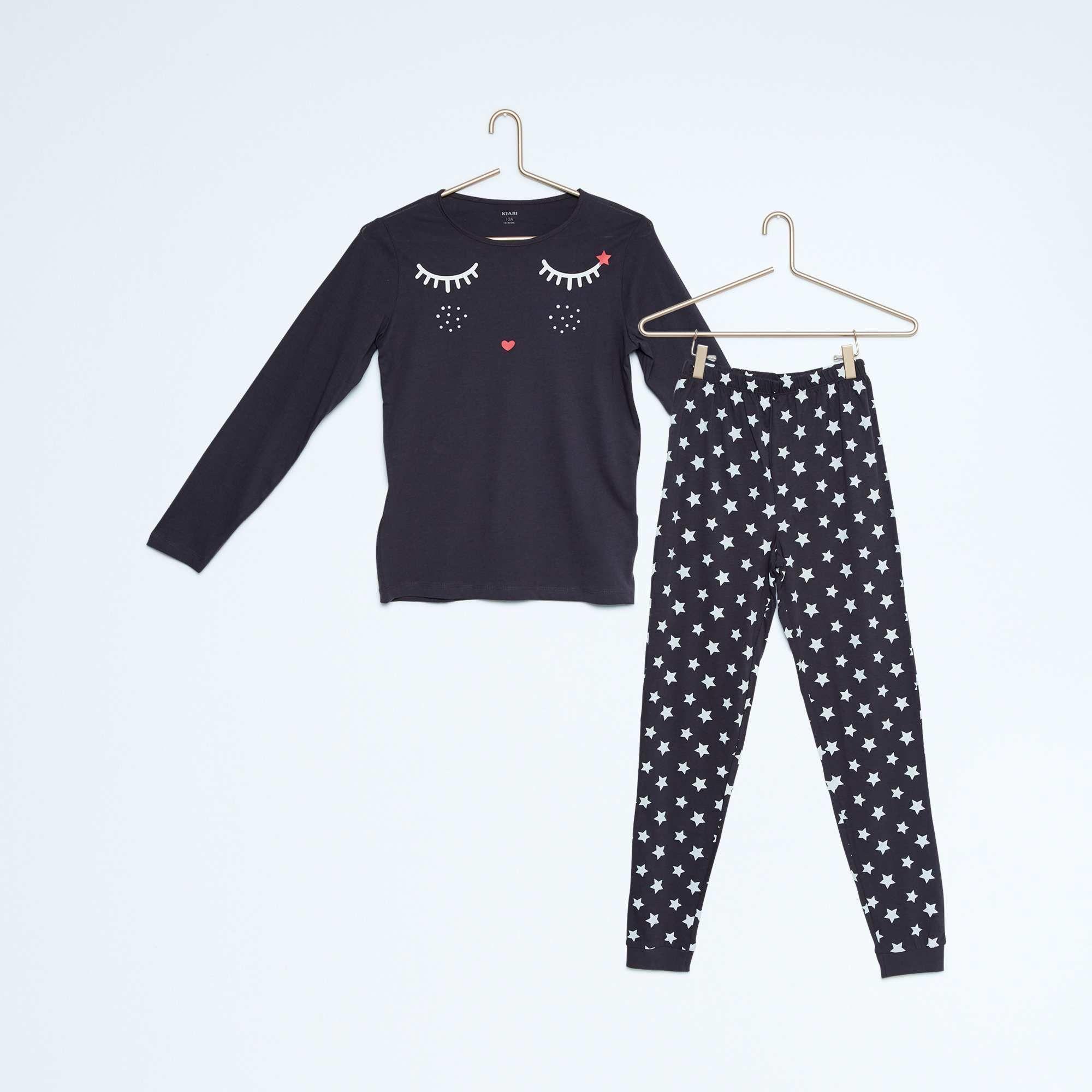 Pyjama Long En Pur Coton Fille Kiabi 8 00 Pyjama