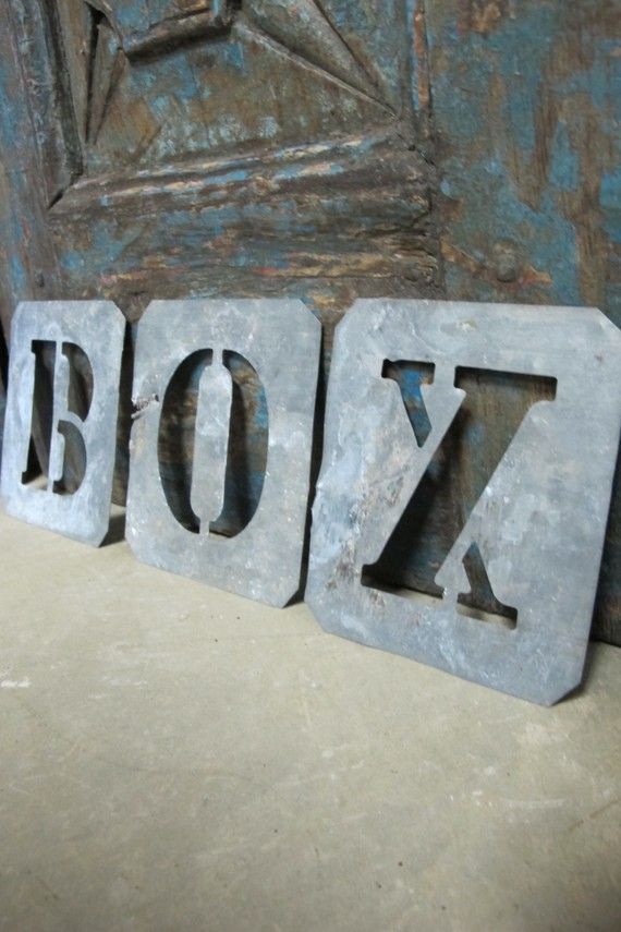 zinc letter stencils for kids names on raised garden beds fun to hang after