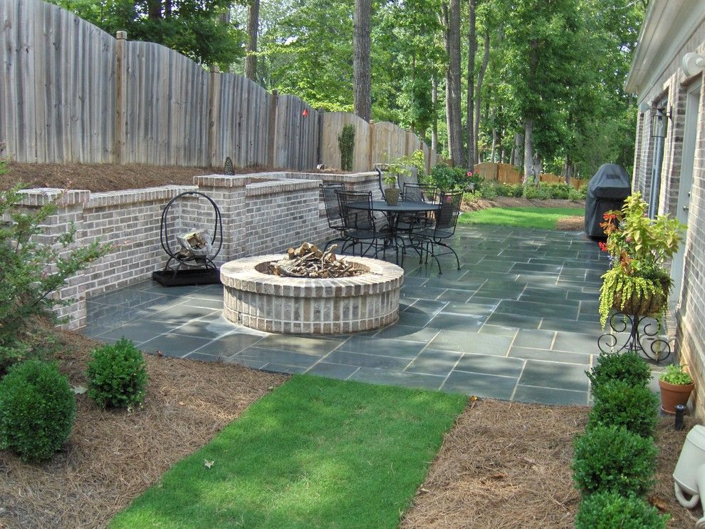 Backyard Hardscape Ideas Patio Traditional With Artistic