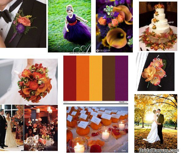 fall wedding color schemes | falling in love with fall wedding