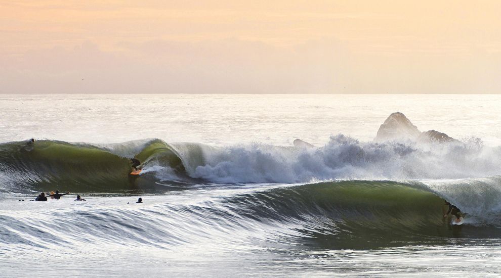 Perfect swell in SoCal, March 2014