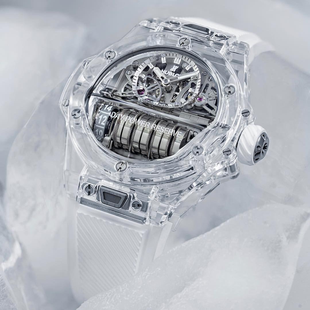 The Mp 11 Sapphire Is All About Transparency Hublot Hublotmea Watch Watches Luxury ترتكز ساعة Mp 11 صفير على الشفافية Saatler
