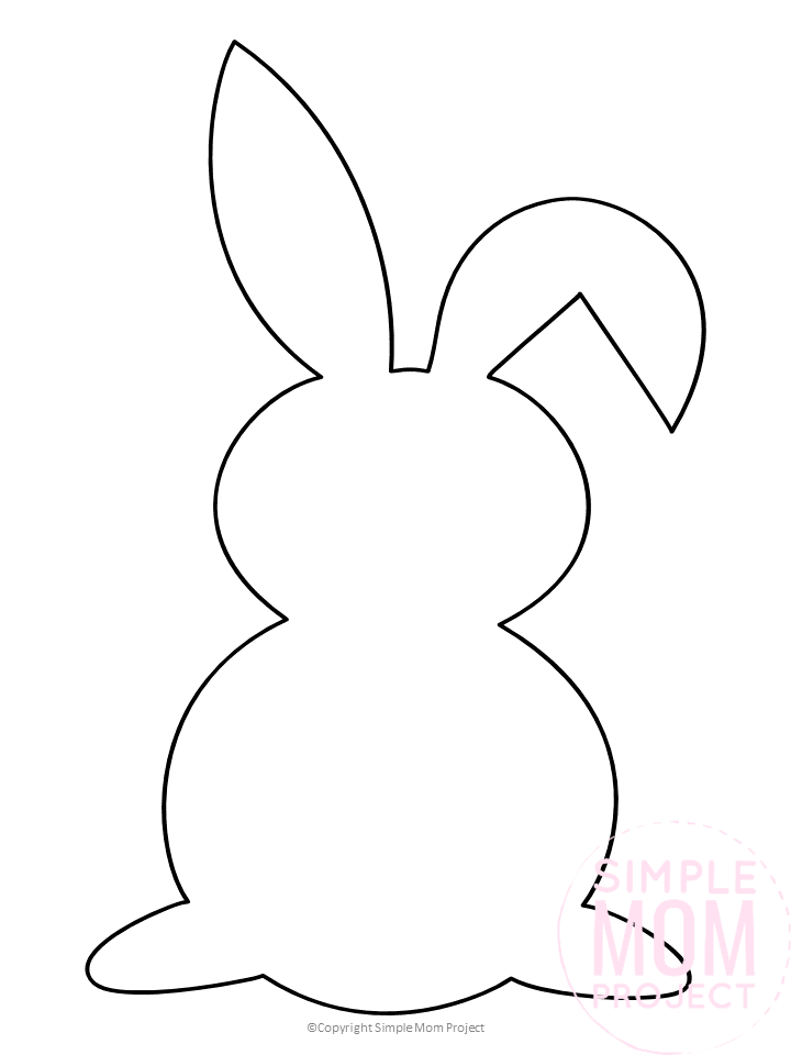Bunny Outline Coloring Pages Background